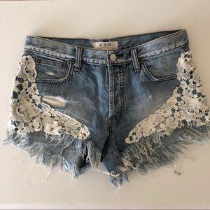Pants - Free people denim shorts 27